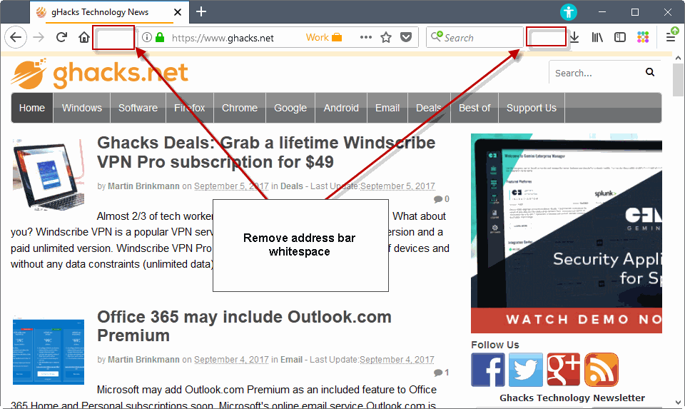 firefox remove address bar whitespace