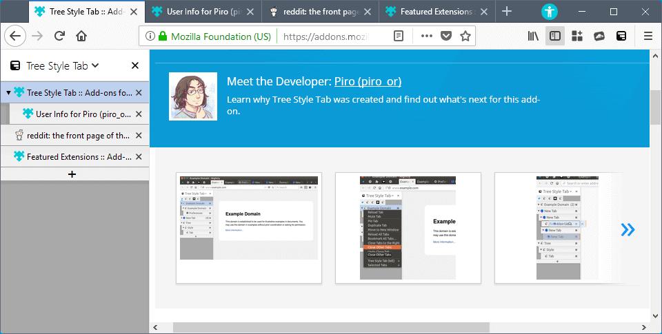 tree style tab webextension