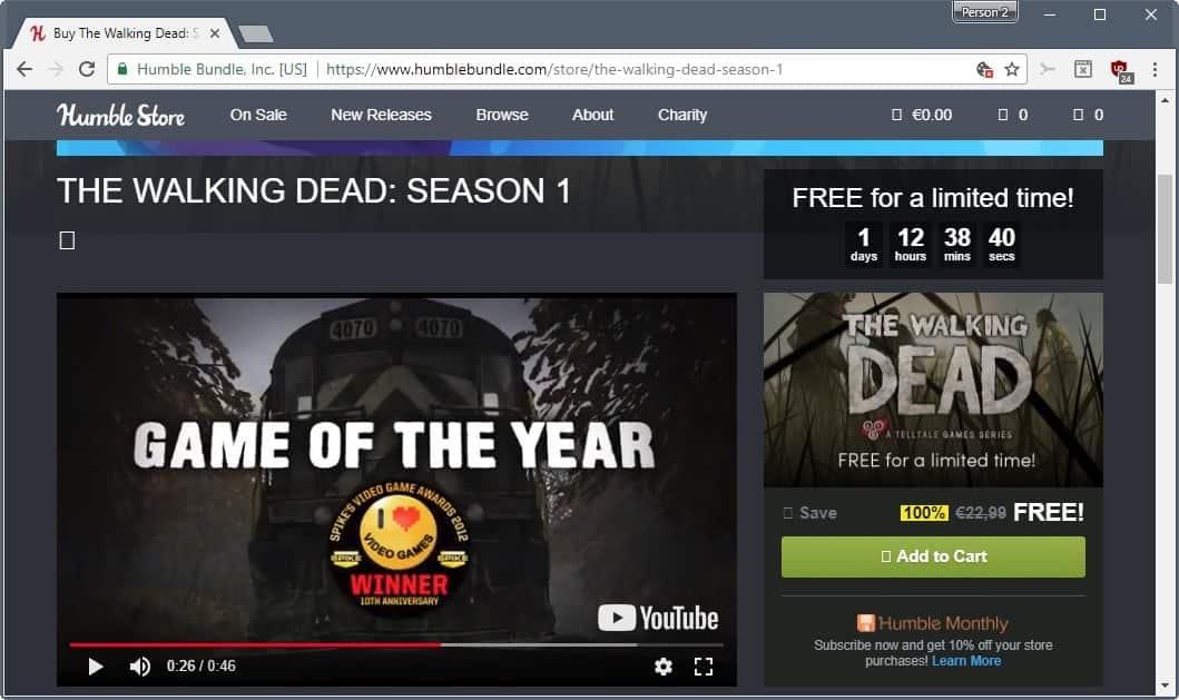 walking dead season 1 free