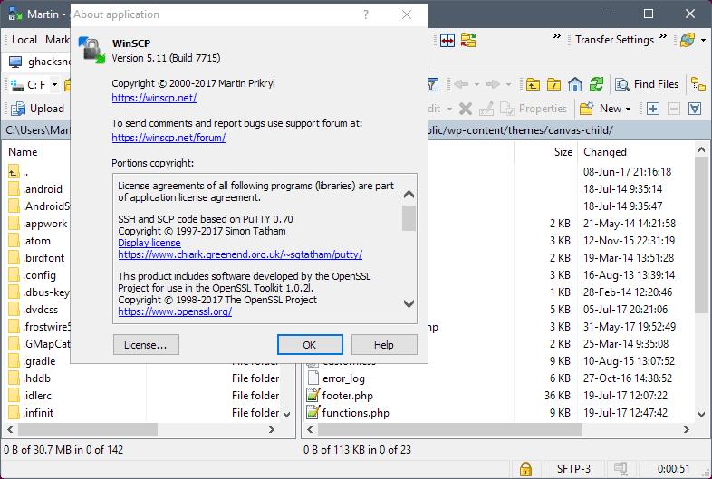 winscp 5.11