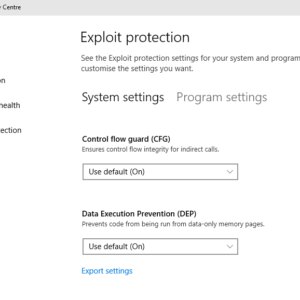 exploit protection windows defender