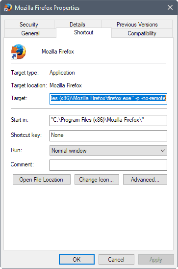 The most important Firefox command line options