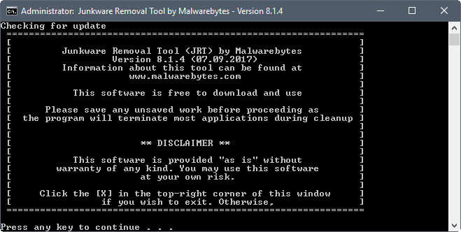 junkware removal tool discontinued