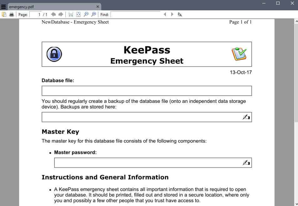 keepass-emergency KeePass 2.37 Password Manager is out