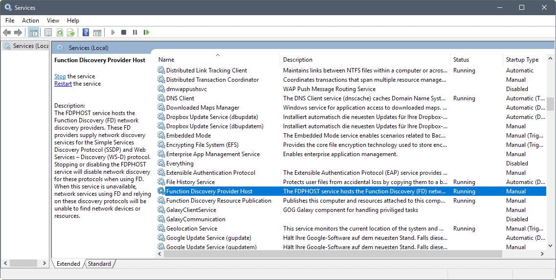 services description