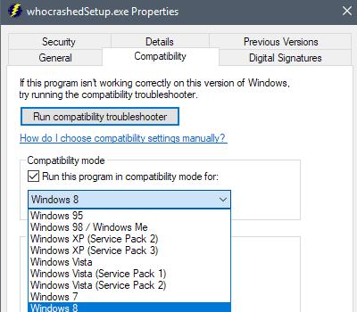 windows program compatibility