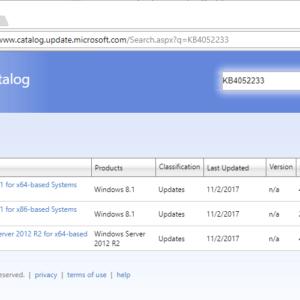 Microsoft-KB4052234 KB4052233 windows updates