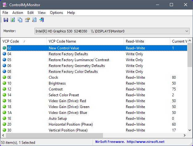 controlmymonitor edit monitor settings