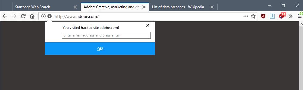 firefox breach notifications