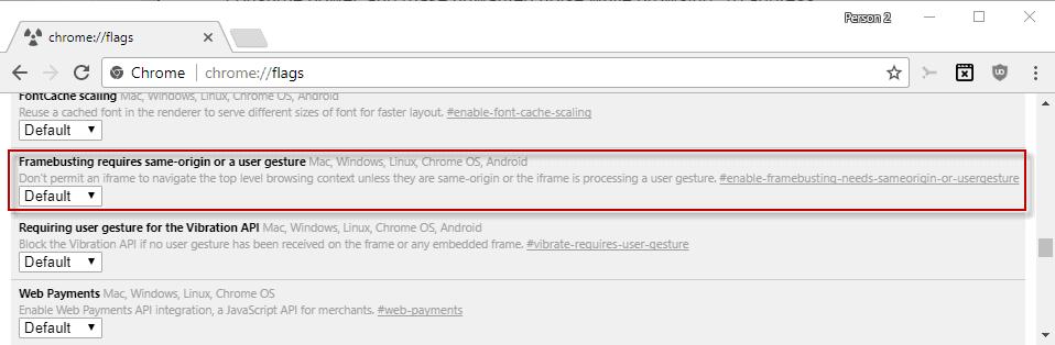 google chrome-prevent unauthorized redirects