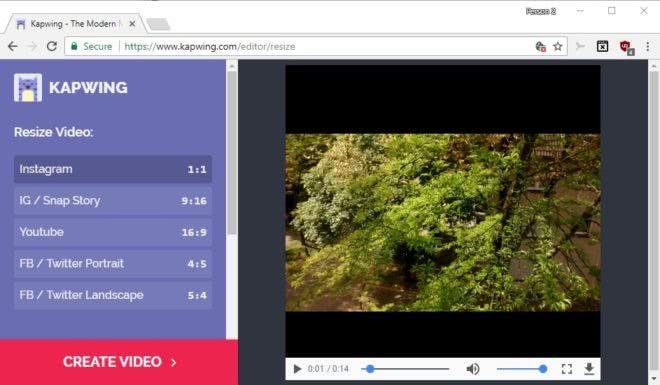 kapwing resize video