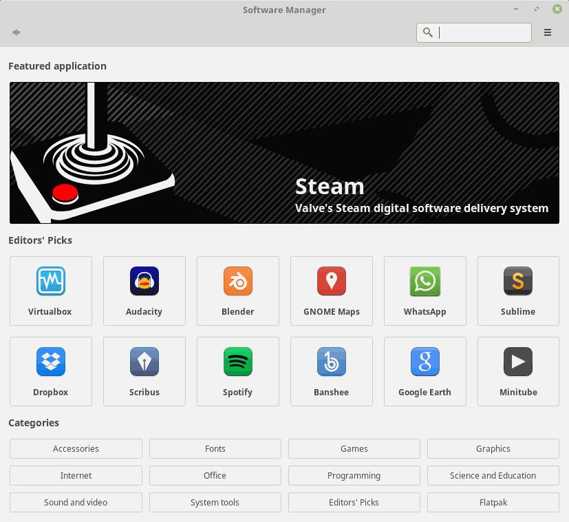 linux mint 18.3 software