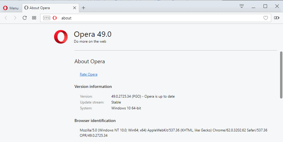 Opera 49 Stable launches with screenshot editing, VR player