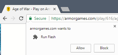 Chrome: How to allow Flash on sites
