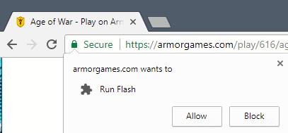 run flash chrome
