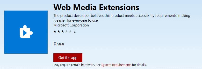 web media extensions
