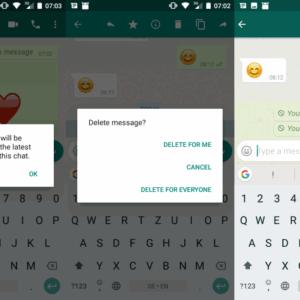 whatsapp delete messages