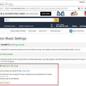 amazon music storage retired