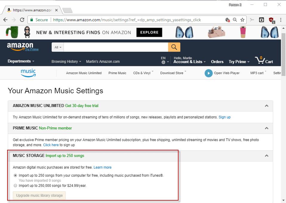 amazon music storage retired