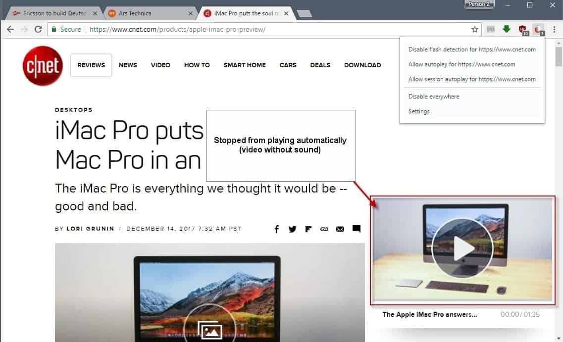 autoplaystopper video autoplay