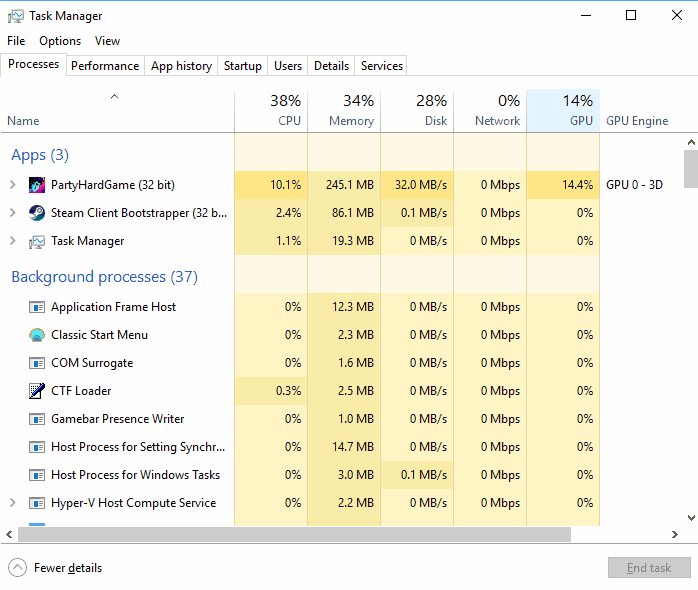Windows 10: GPU performance in Task Manager