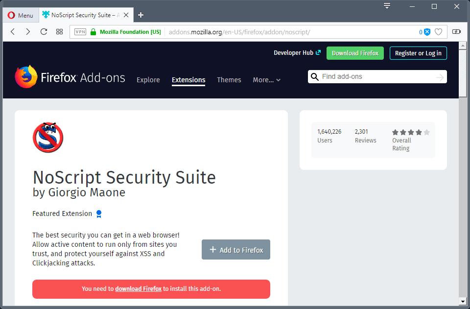 noscript user rating