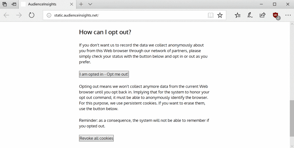 opt-out tracking