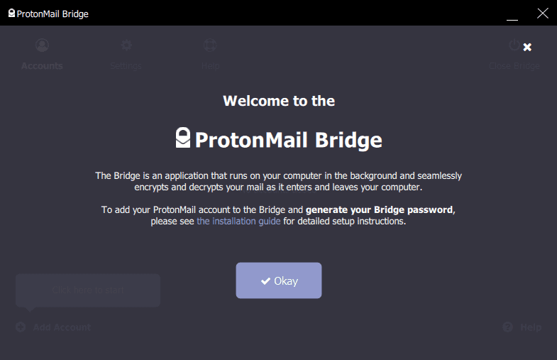protonmail bridge