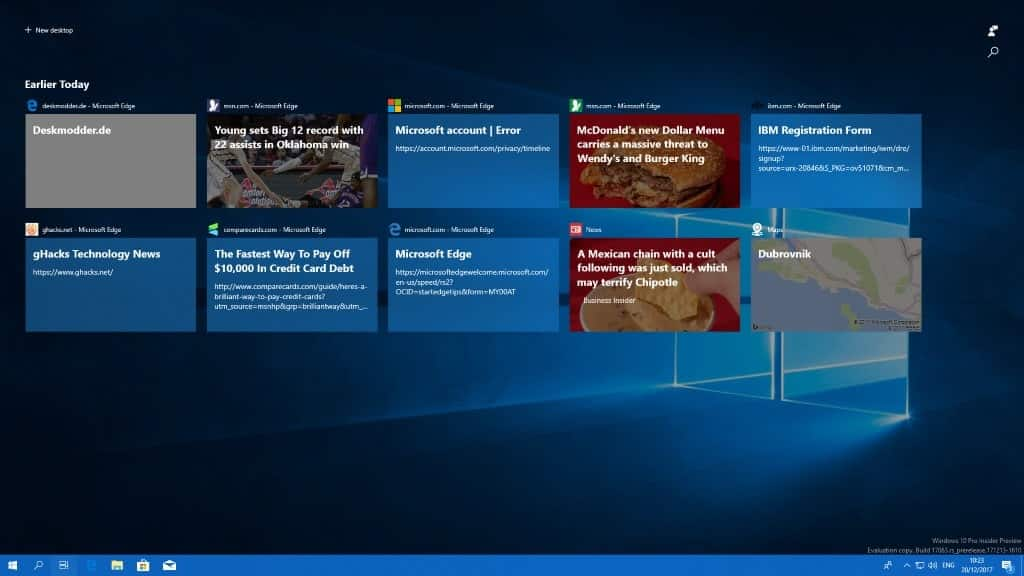 A close look at the Windows 10 Timeline feature