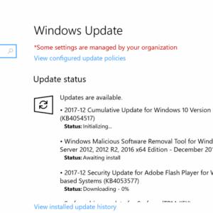 windows updates december 2017 security