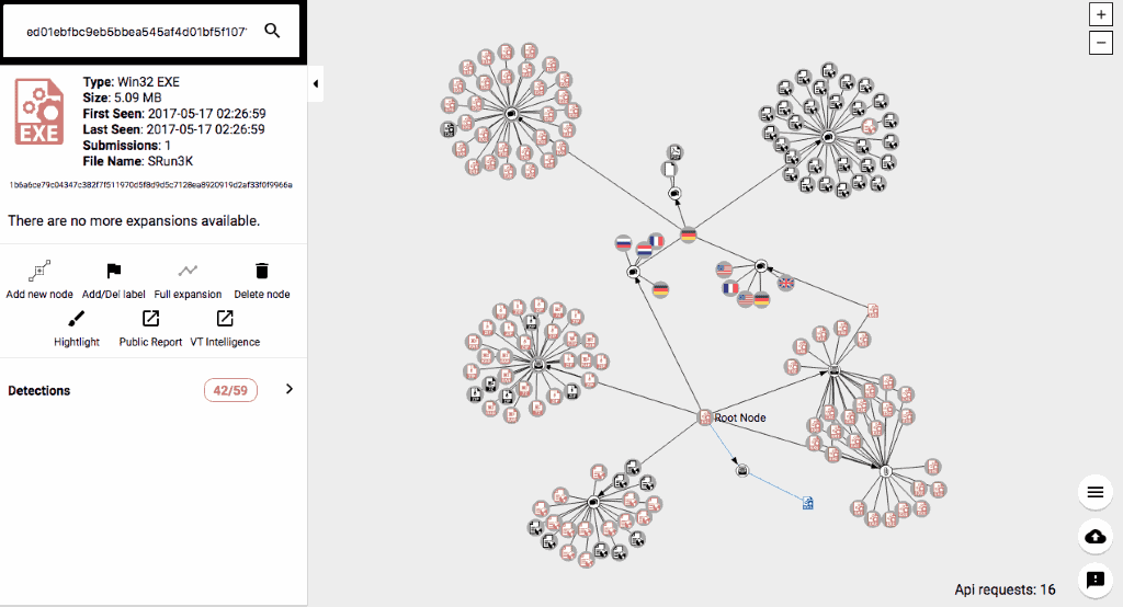 VirusTotal Graph visualizes scans and shows IP connections