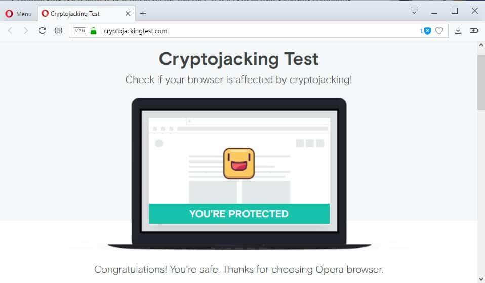 cryptojacking test