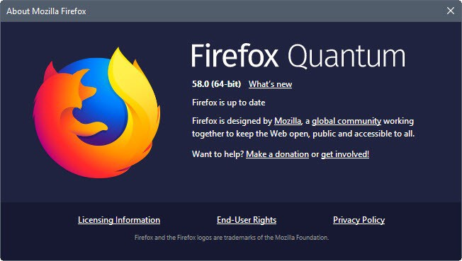 Firefox 58.0 release overview