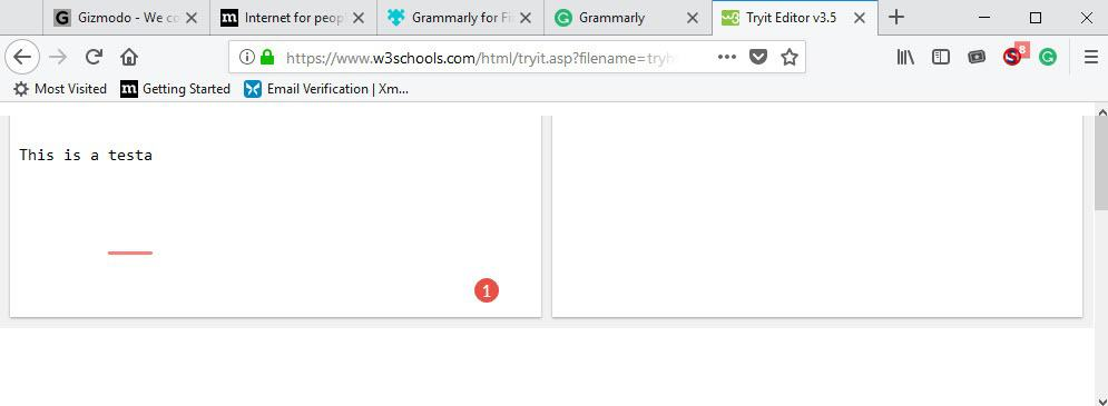 firefox grammarly issue