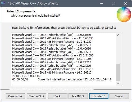 installed c runtimes