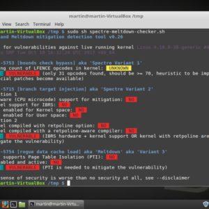 linux spectre meltdown checker