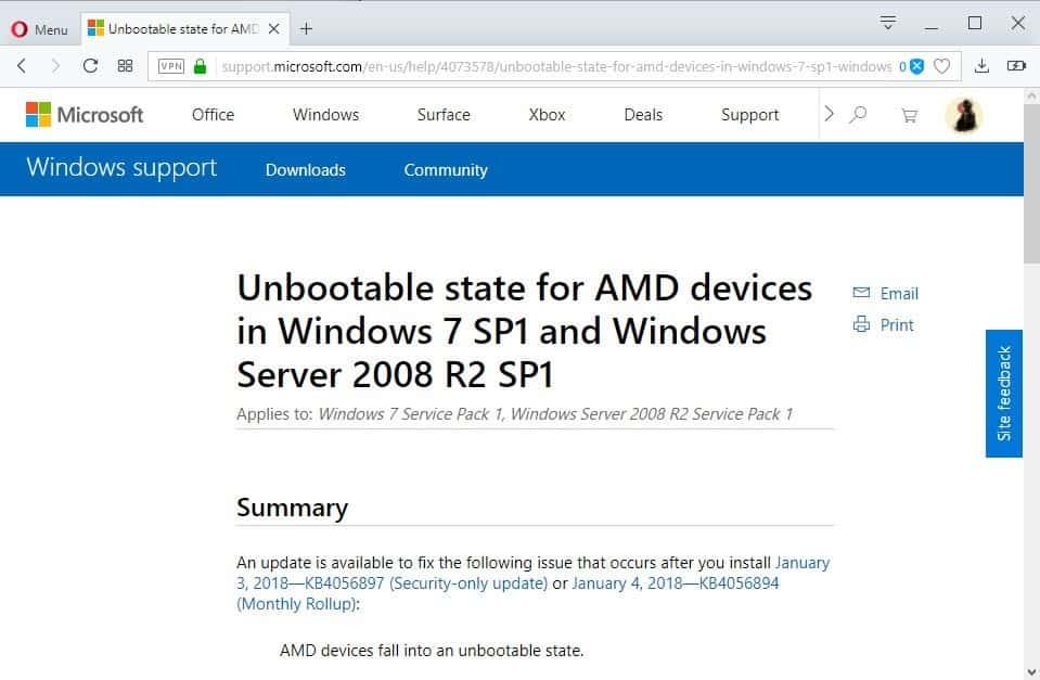 microsoft windows KB4073578 KB4073578