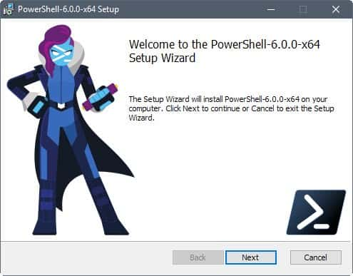 powershell core 6.0