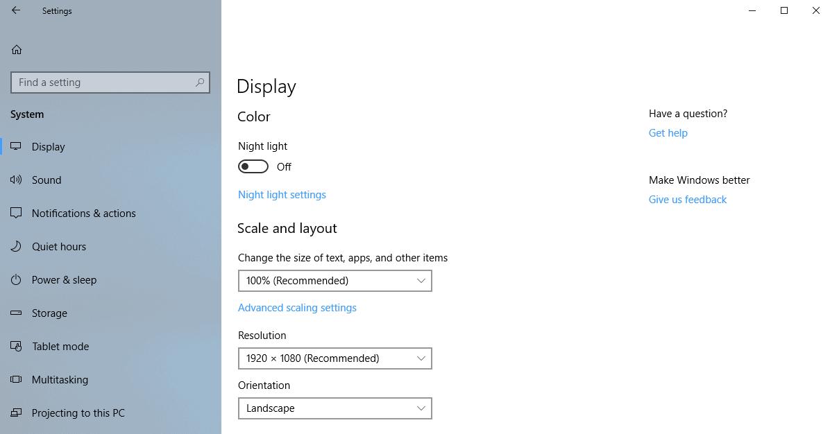 settings no tips