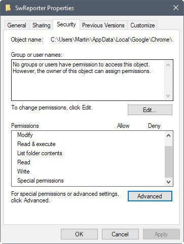 software reporter tool disable