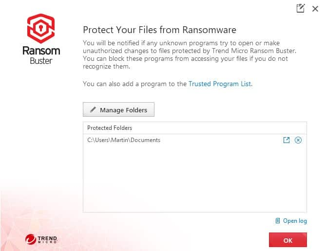 trendmicro ransom buster
