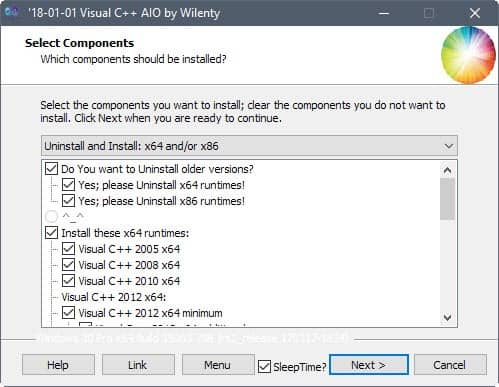 visual c installer uninstaller