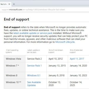 windows 8.1 end mainstream support