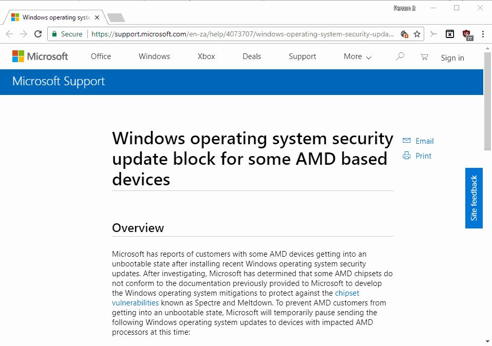 windows blue screen amd
