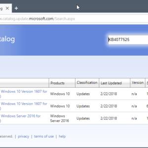 KB4077525 windows 10