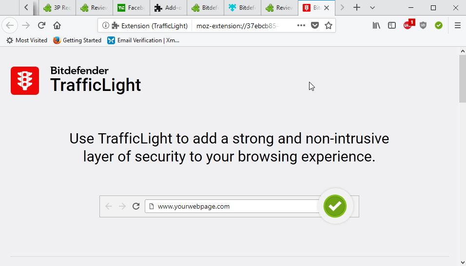 bitdefender trafficlight for firefox
