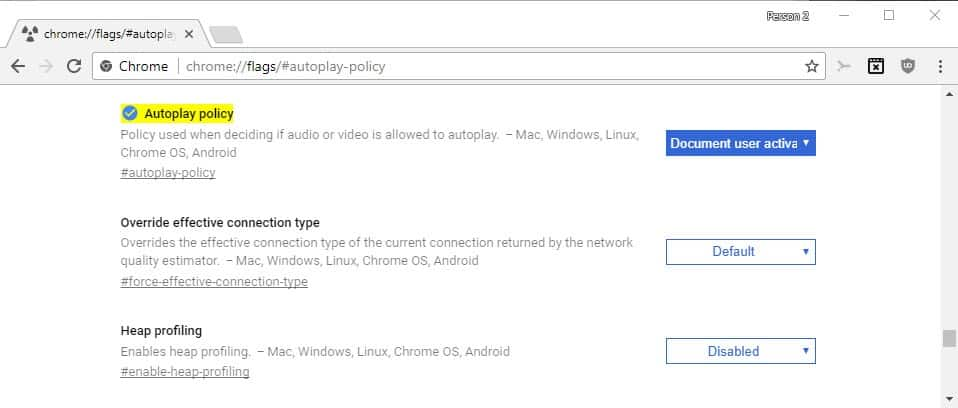 How to control audio and video autoplay in Google Chrome - gHacks