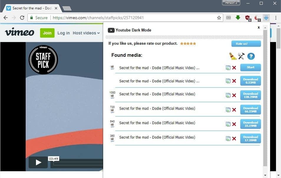 free download downloadhelper for google chrome