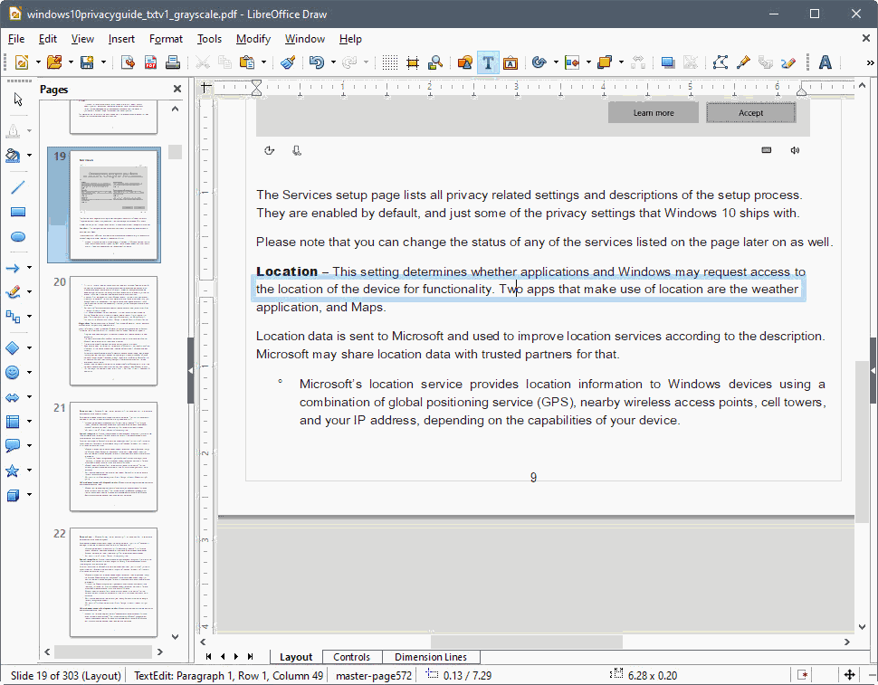 Using LibreOffice as a PDF Editor