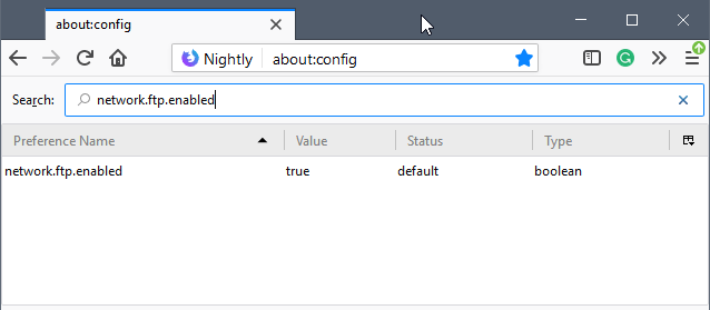 Firefox 60 with new preference to disable FTP - gHacks Tech News